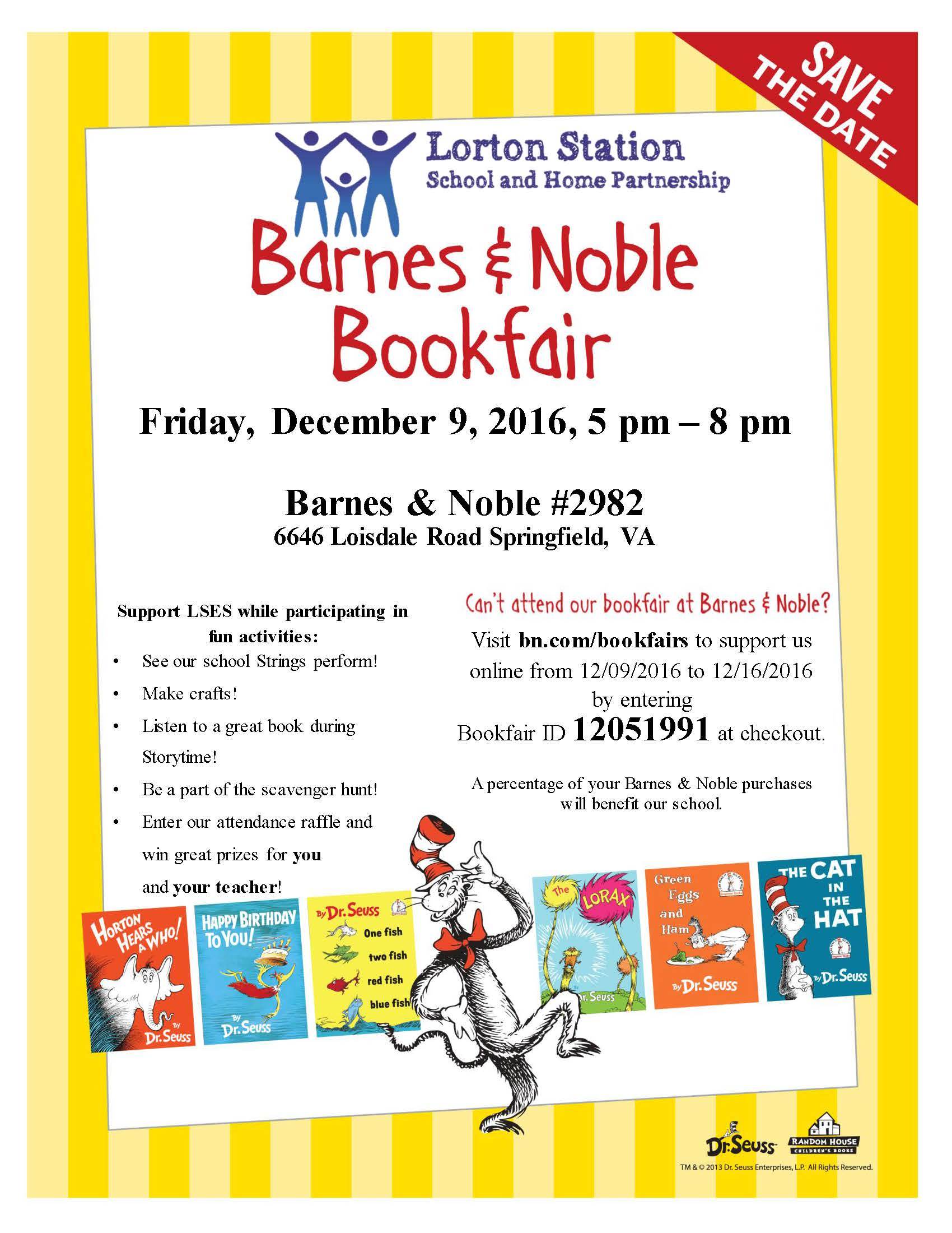 Barnes & Noble Book Fair - December 9th